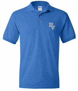 Blue PV Polo (3rd-8th grade) $13.00