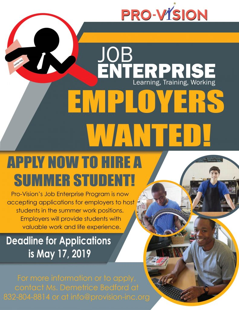 Job Enterprise Interest Flyer 2019